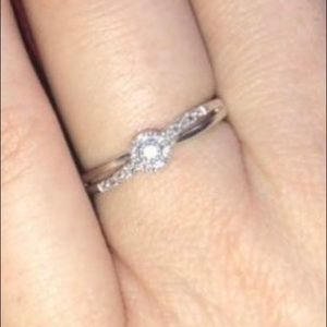 0.2 carat real diamond promise ring